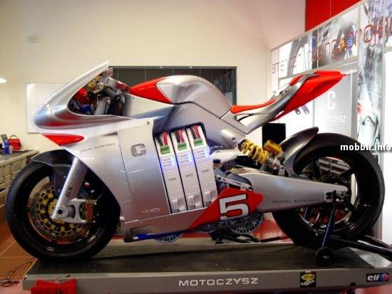 Цифровой мотоцикл MotoCzysz E1pc