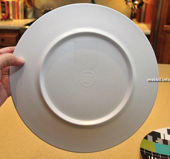 Тарелки с изображением настроечной таблицы