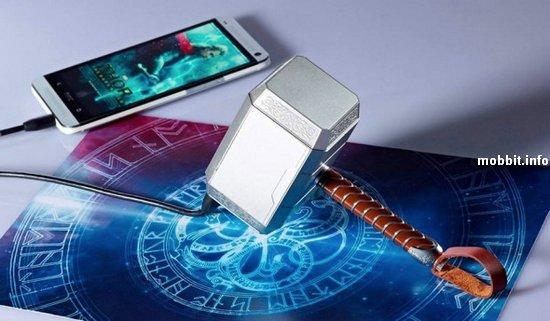 Портативный аккумулятор в виде молота Тора