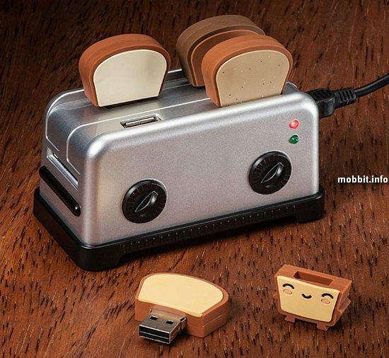 Забавный USB-хаб в виде тостера