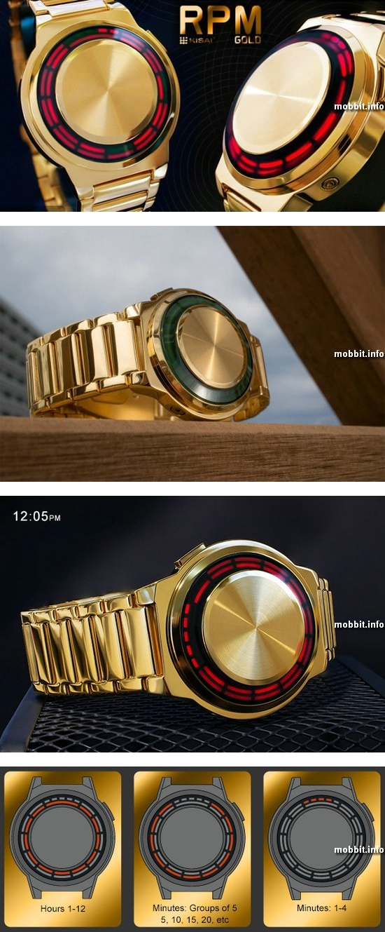 TokyoFlash Kisai RPM Gold Watch