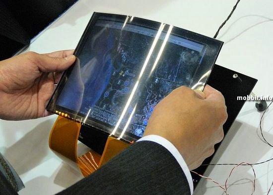 Гибкий дисплей Toshiba