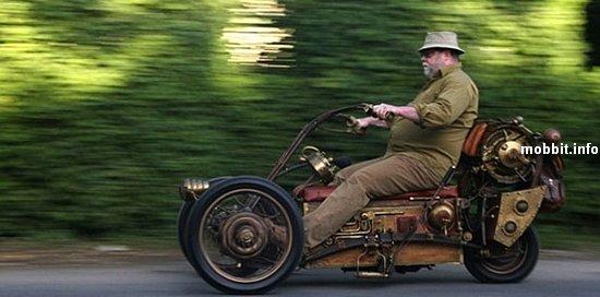 Стимпанк-трицикл на электротяге