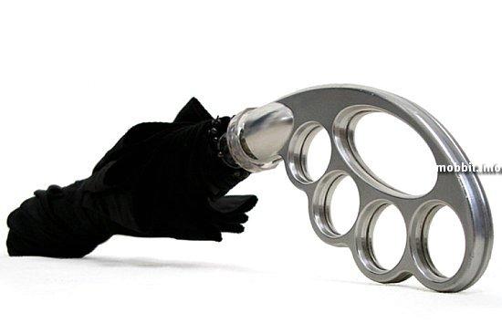 Umbuster - зонт с кастетом в качестве рукоятки
