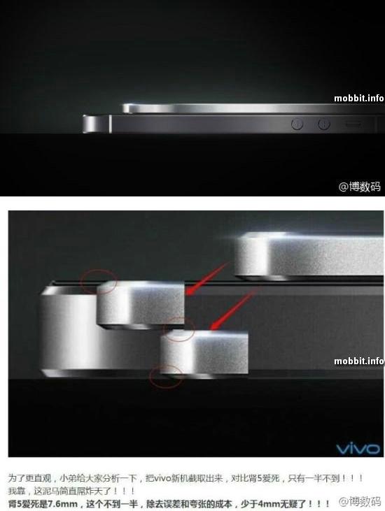 Vivo выпустит смартфон толщиной 3, 8 мм?