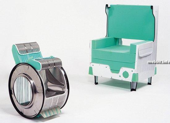 Вот такие вот предметы интерьера можно создать из старой стиральной машины.
