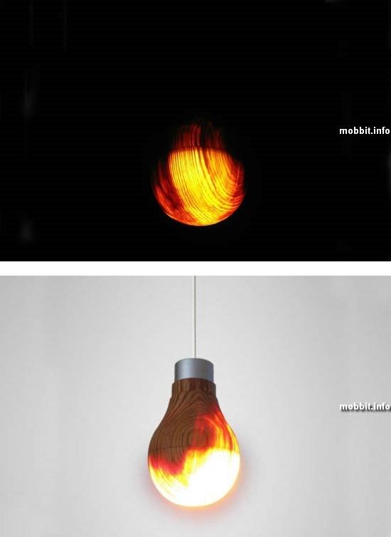 Полностью функциональная лампочка из… дерева
