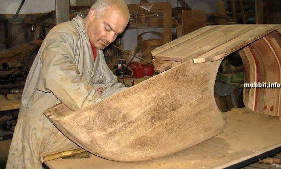 деревянный мопед