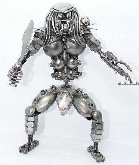 Забавные скульптуры из металлического мусора